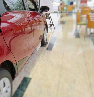 Showroom red car