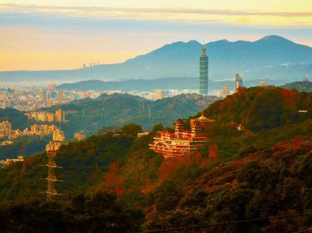 대만-타이페이 (Wenshan_Maokong_Taipei 101_Taipei city evening view)