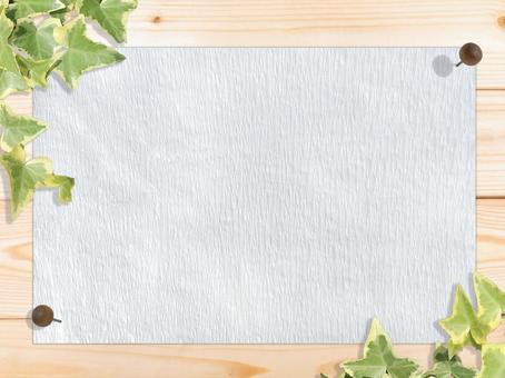 白色木紋白色日本紙固定框架背景材料