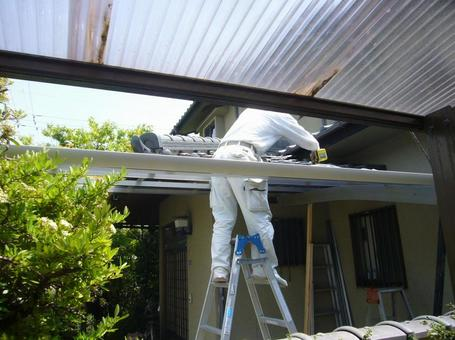Construction work of craftsman, carport