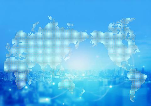世界地圖和網絡