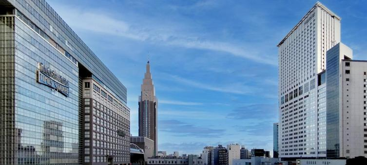 View toward Yoyogi from the New South Exit of Shinjuku Station
