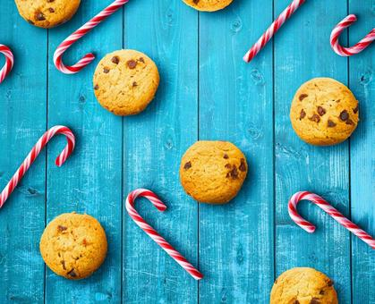 Cookies and candy cane