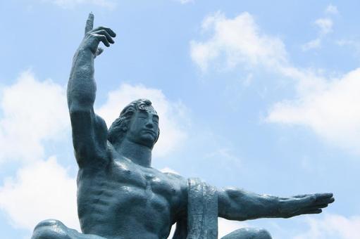 長崎縣長崎市和平紀念雕像020