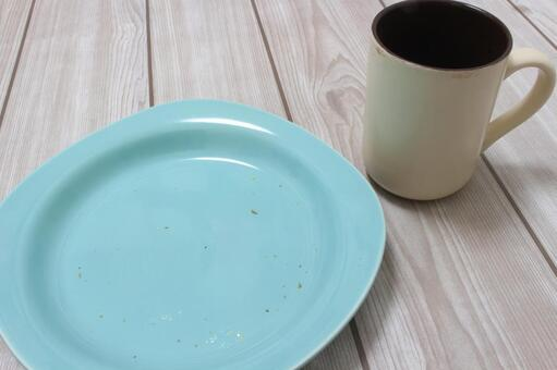 Tableware after dinner