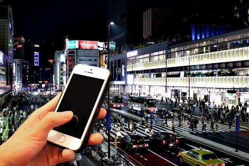 Telephone image at night
