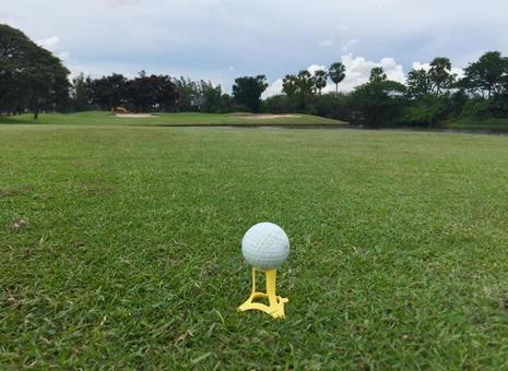Tea up on the golf course