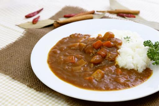 Curry and rice and spices 6