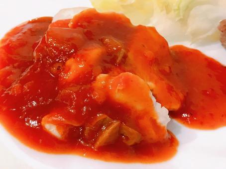 닭고기 토마토 소스