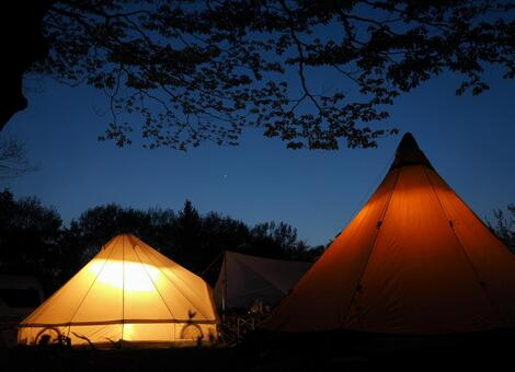 Starry sky camp