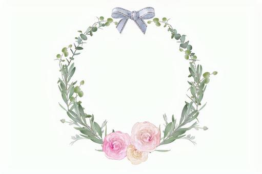 Illustration style botanical frame