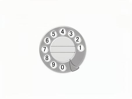 Nostalgic phone dial background white