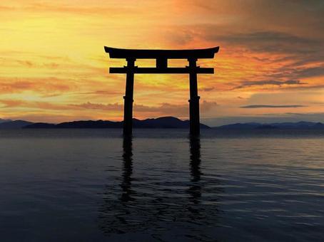 Torii of Lake Biwa