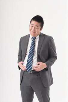 Chubby men wearing a suit 1