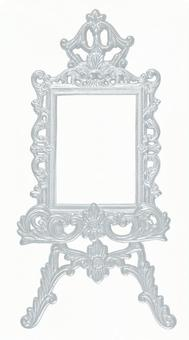 Antique silver frame & easel 1 (with cutout pass)