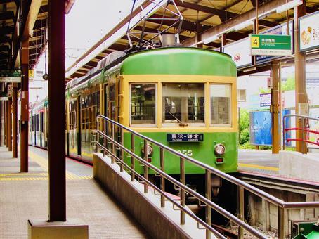에노시마 전철 가마쿠라 역 열차