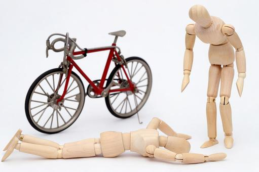While driving a bicycle traffic accident