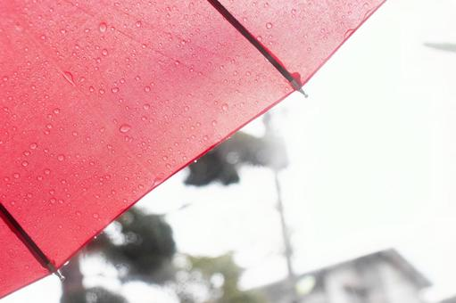 A town like a red umbrella