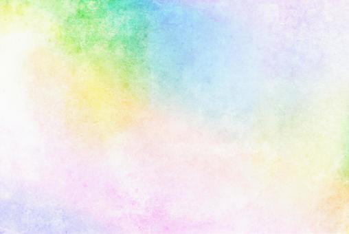 淡水彩風格彩虹色背景模糊柔和的顏色