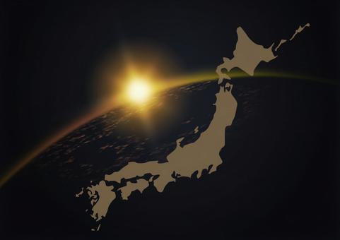 새벽과 일본지도