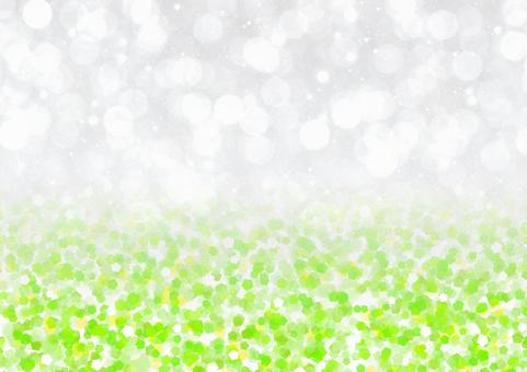 Fluffy and glitter bokeh and glitter style illustration background material (yellowish green)