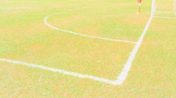 Soccer field corner line