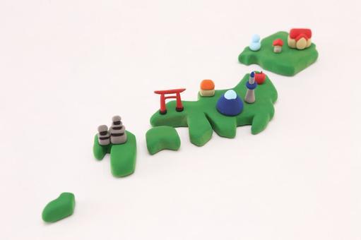 Clay art Japan Map 5