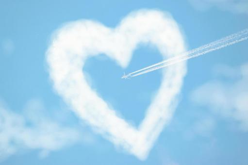 Heart cloud and plane