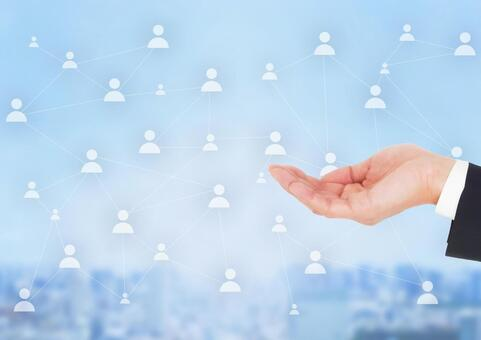 Businessmen network introduction information