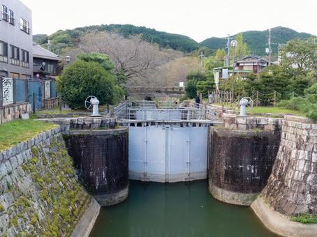 Otsu Gate of Lake Biwa Canal