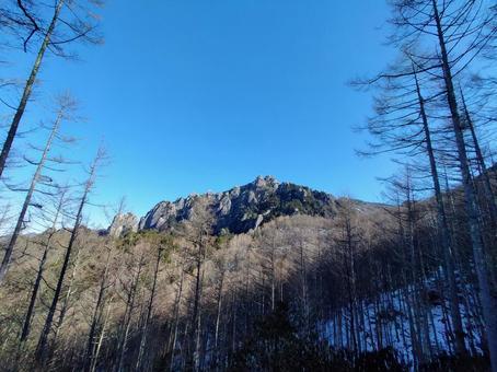 루이 牆山을 멀리 임하는 겨울의 숲