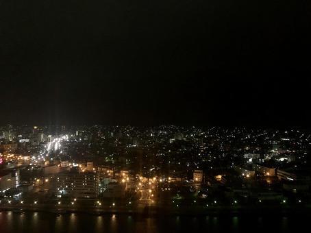 Night view of Niigata Island