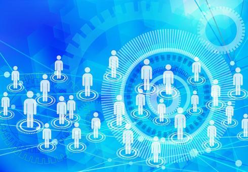 sns image light blue network technology