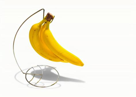 Banana stand holder shadow silhouette background transparent psd