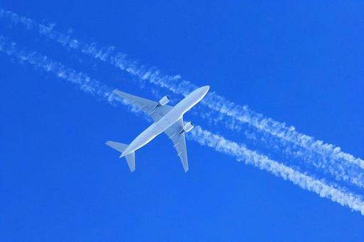 飞机和蒸气