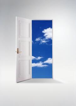 天空_垂直ver(白色背景)超出了門