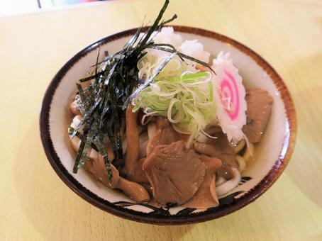 Grated mushroom udon
