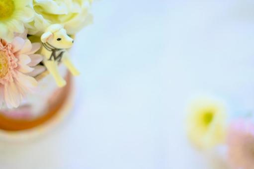Sheep and flower arrangement table photo