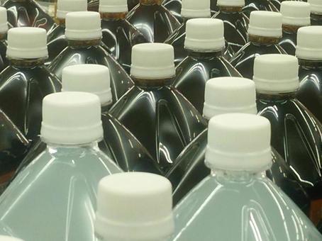 Lots of PET bottle drinks