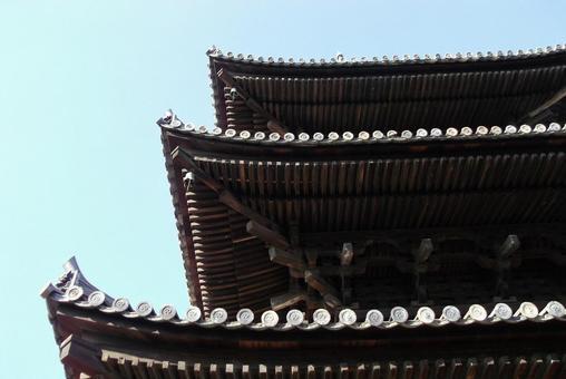 Ishite Temple-Dougong and Dougong of Mie Pagoda