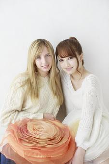 Female friend Foreigner and Japanese 17