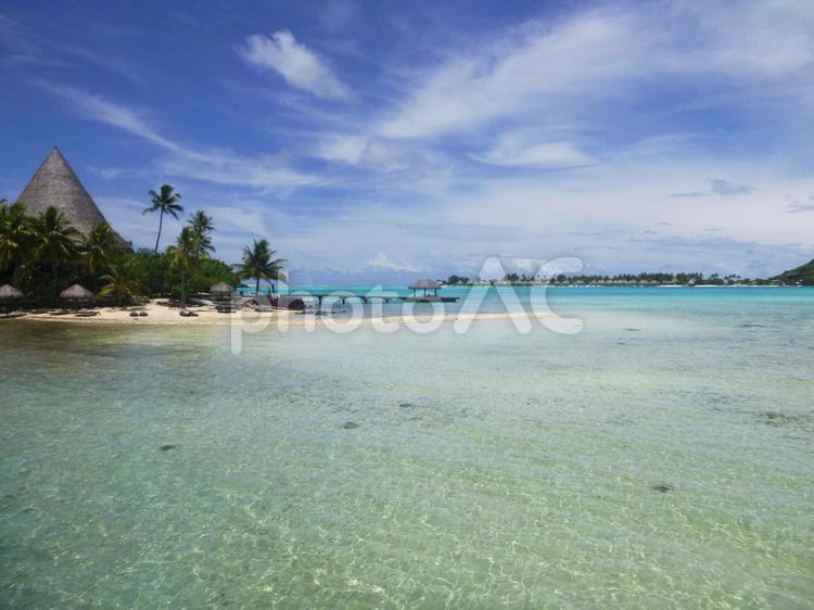 タヒチの海の写真