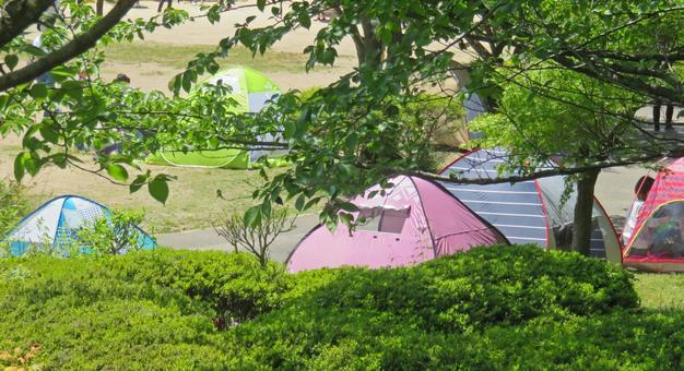 Campground square tent