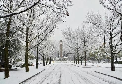 Snow clock tower