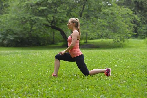 A woman doing gymnastics 11