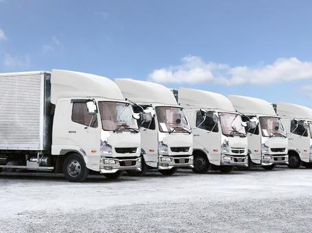 Logistics image white truck