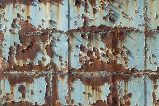 녹슨하여 페인트 벗겨진 철판