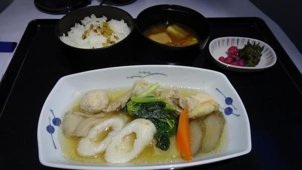 Japanese class food on business class