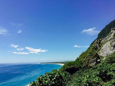 從上面眺望美麗的大海
