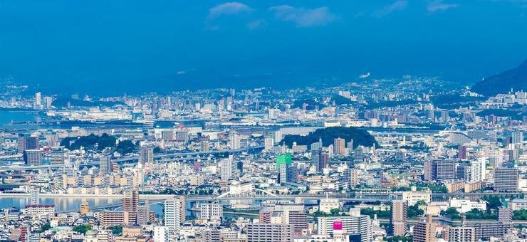 Scenery of Hiroshima city